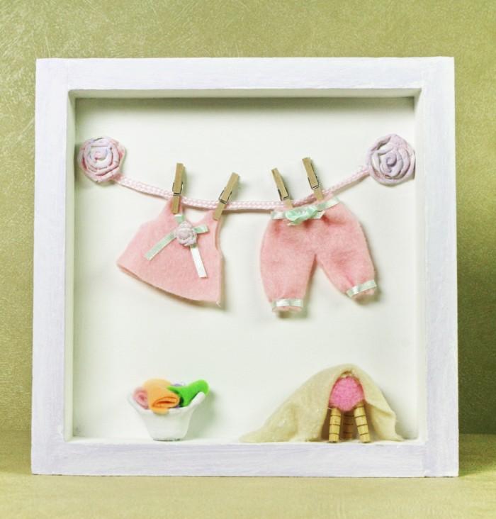 Cuadro ropa tendida ni a con accesorios miniaturas artpetit - Cuadros para habitaciones de ninas ...